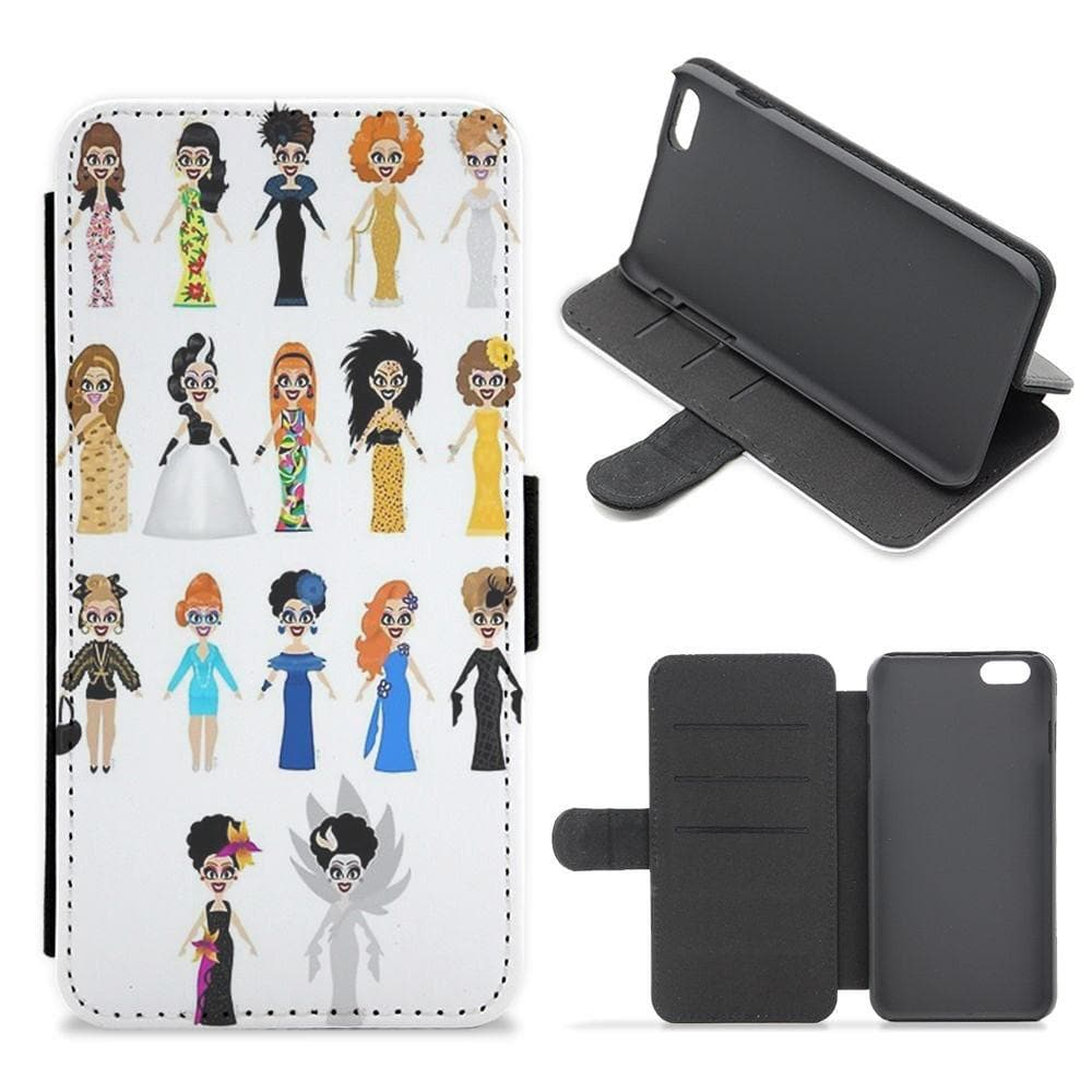 Bianca Del Rio Dresses - RuPaul's Drag Race Flip Wallet Phone Case - Fun Cases