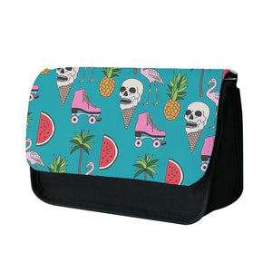 Skull Creams - Summer Pattern Pencil Case - Fun Cases