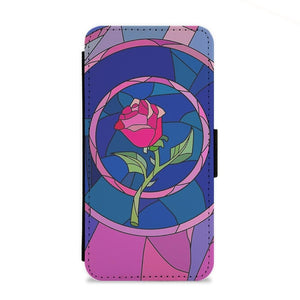 Glass Rose - Beauty and the Beast Flip Wallet Phone Case - Fun Cases