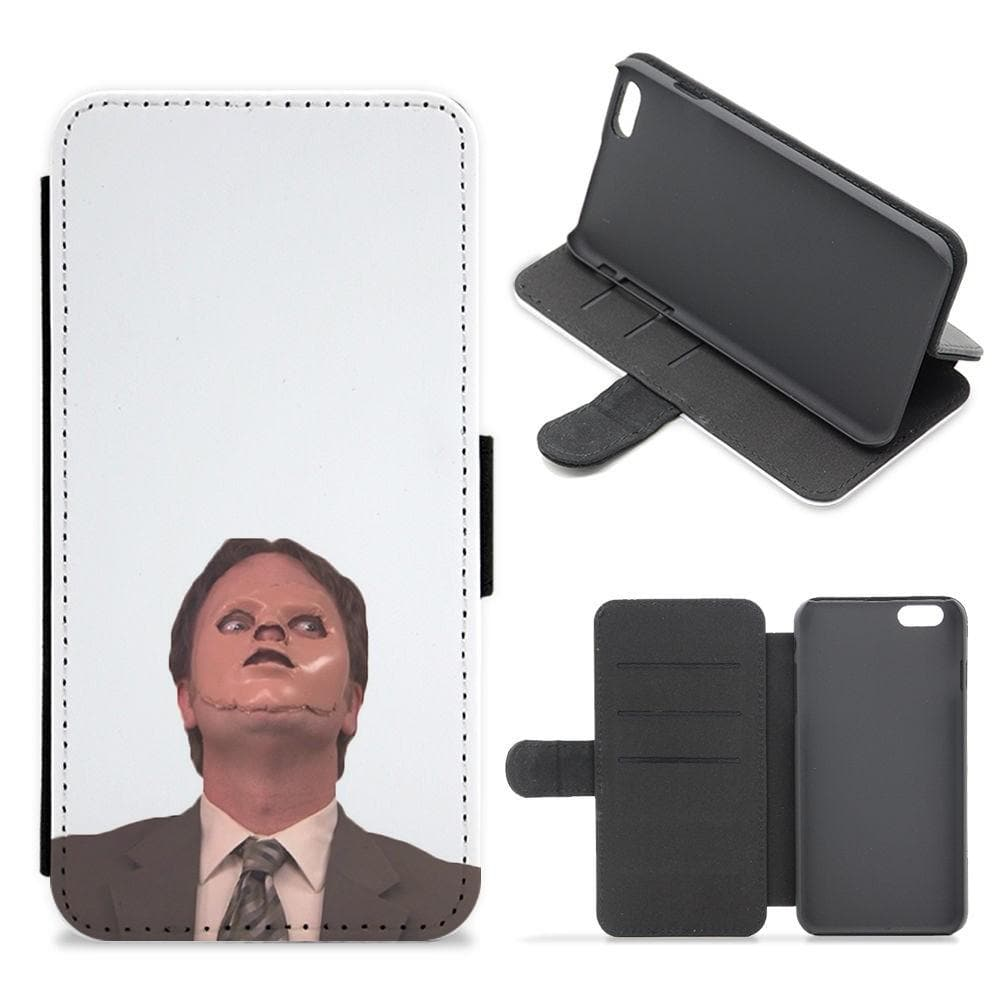 Dwight And The Dummy - The Office Flip Wallet Phone Case - Fun Cases