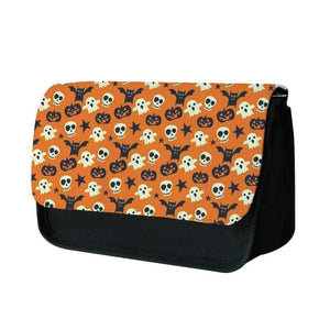Skeletons, Ghosts, Pumpkin & Bat Pattern Pencil Case