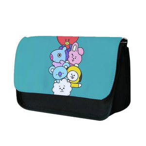Green BT21 - RJ, Mang, Koya, Chimmy, Cooky, Shooky, Tata - BTS Pencil Case