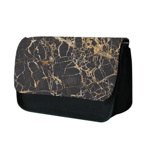 Black & Gold Marble Pattern Pencil Case - Fun Cases
