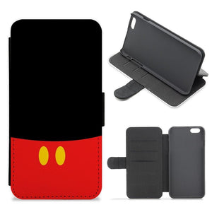 Mickey Mouse Outfit Flip / Wallet Phone Case - Fun Cases