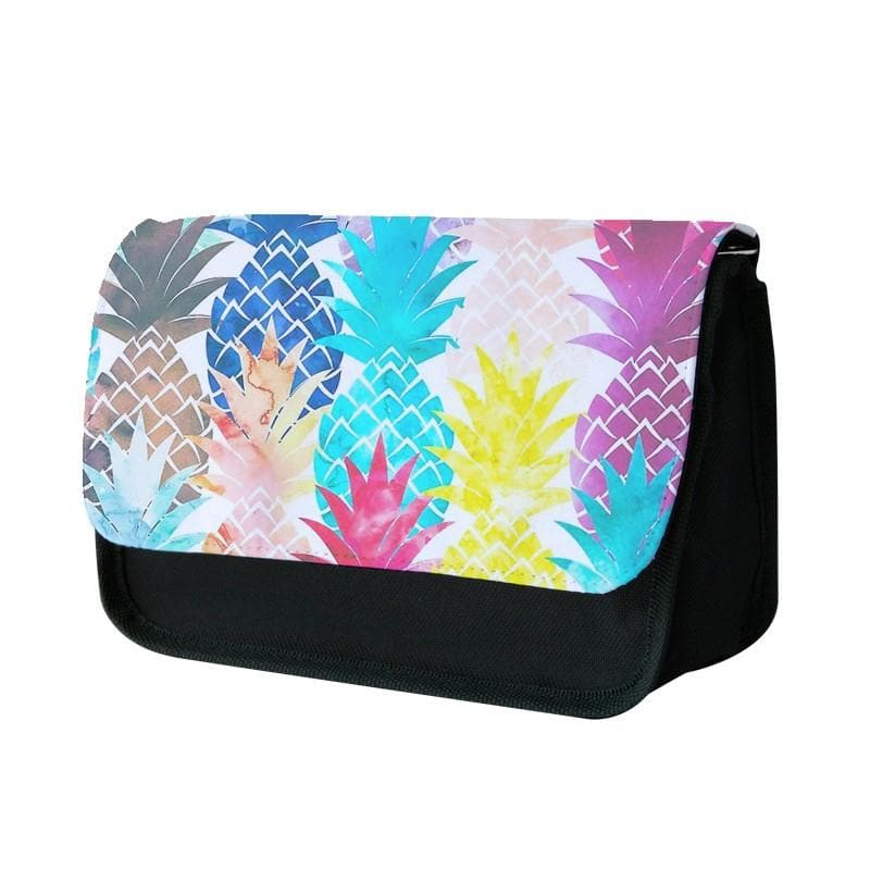 Watercolour Pineapple Pattern Pencil Case - Fun Cases