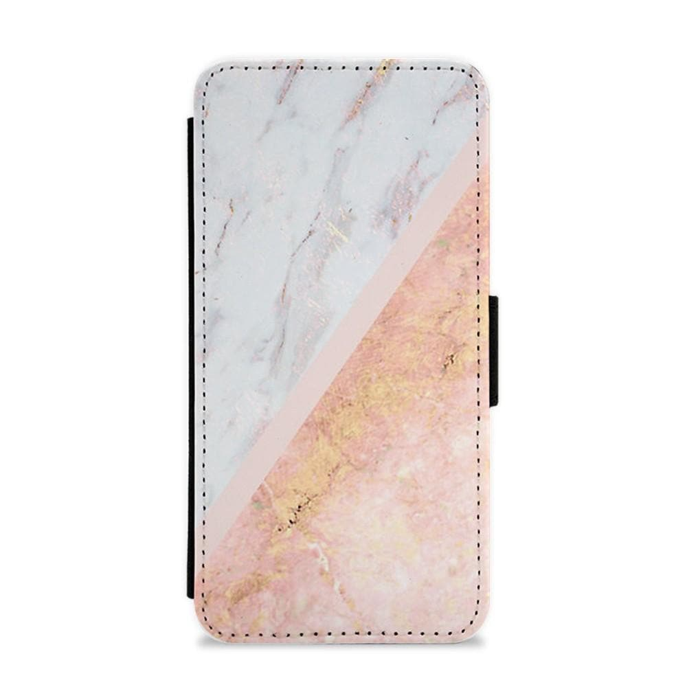 Marble and Rose Gold Flip / Wallet Phone Case - Fun Cases