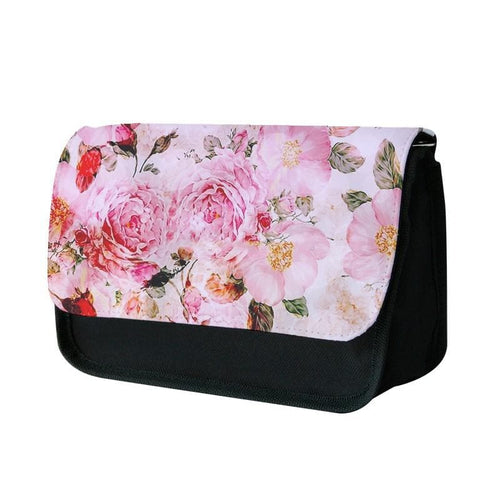 Pretty Pink Chic Floral Pattern Pencil Case - Fun Cases