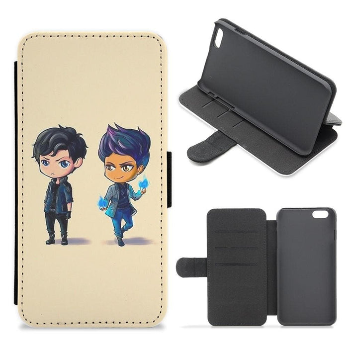 Malec Cartoons - Shadowhunters Flip Wallet Phone Case - Fun Cases
