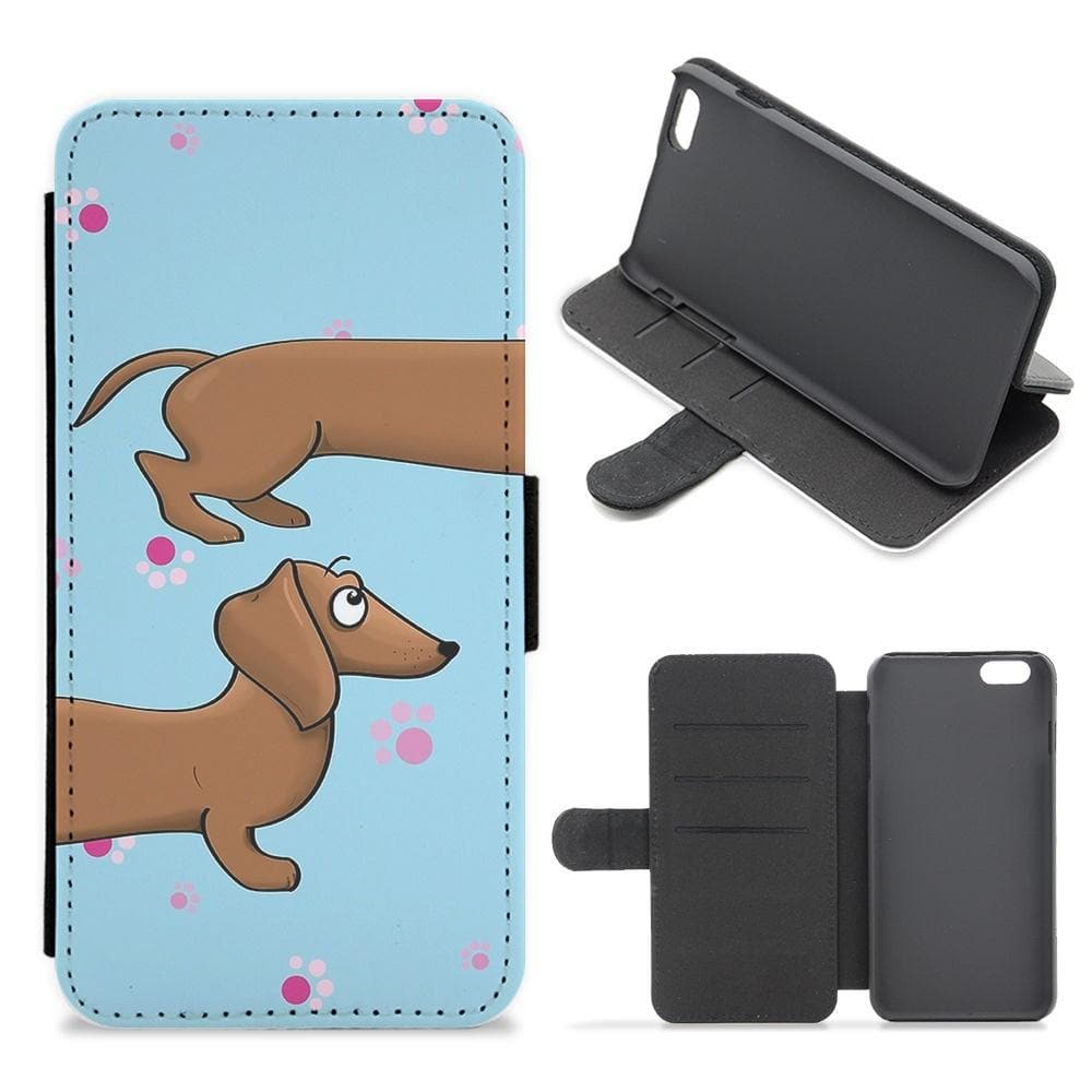 Dachshund 360 Flip Wallet Phone Case - Fun Cases