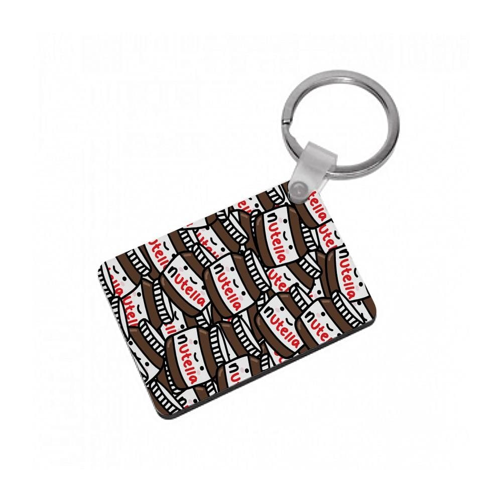Cute Nutella Pattern Keyring - Fun Cases