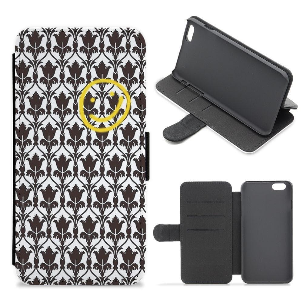 Sherlock Wallpaper Smile Flip Wallet Phone Case - Fun Cases