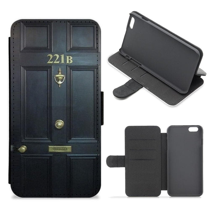 221B Baker Street Door - Sherlock Flip / Wallet Phone Case - Fun Cases