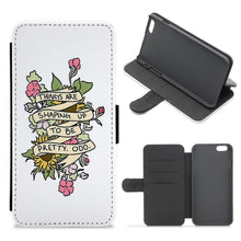 Things are Shaping up to be Pretty Odd Flip / Wallet Phone Case - Fun Cases