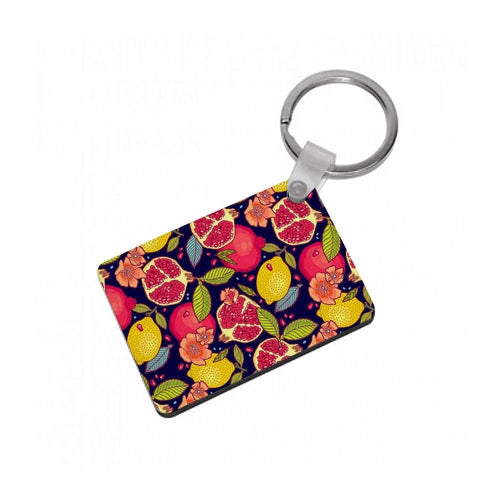 Tropical Garden Pattern Keyring - Fun Cases