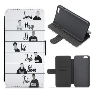 The Sidemen Cartoon Flip / Wallet Phone Case - Fun Cases