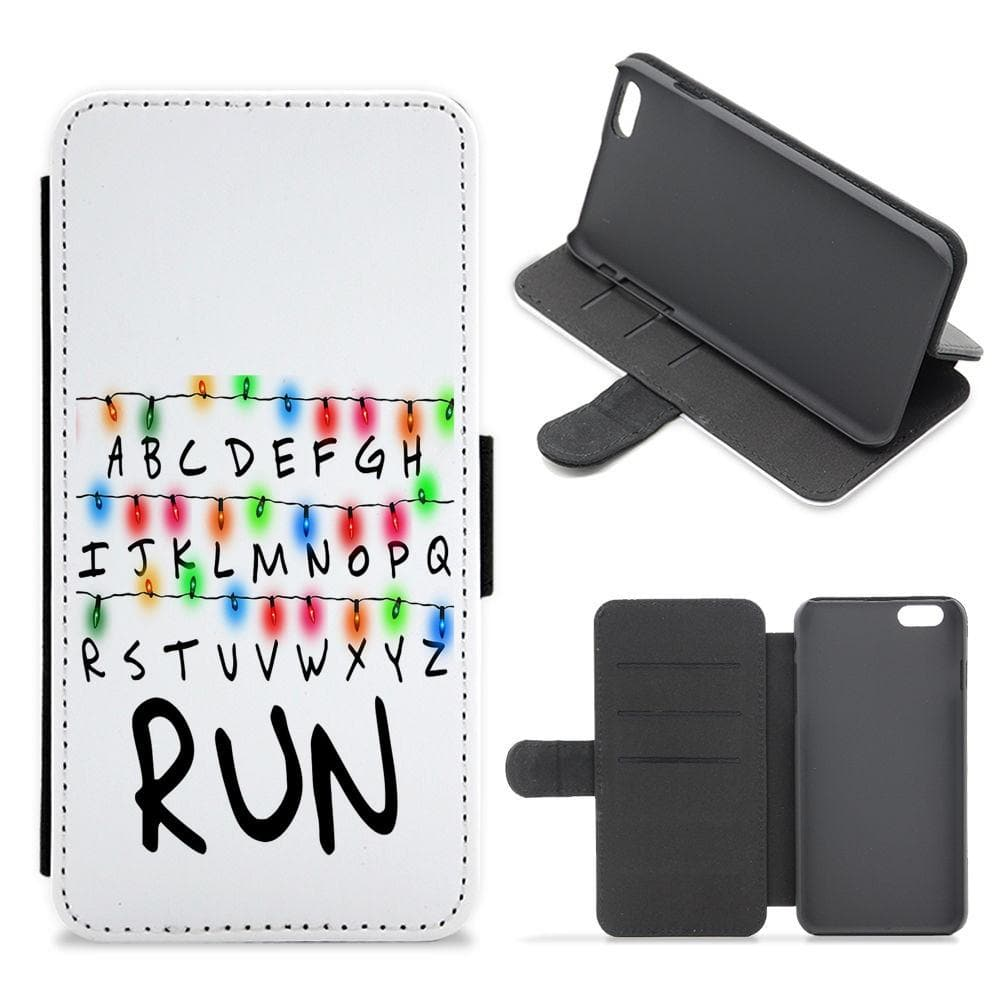 Run - Stranger Things Flip / Wallet Phone Case - Fun Cases