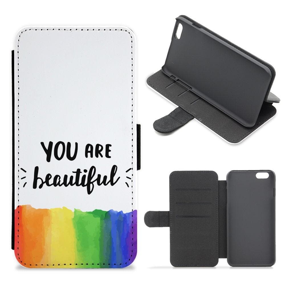 You Are Beautiful - Pride Flip / Wallet Phone Case - Fun Cases