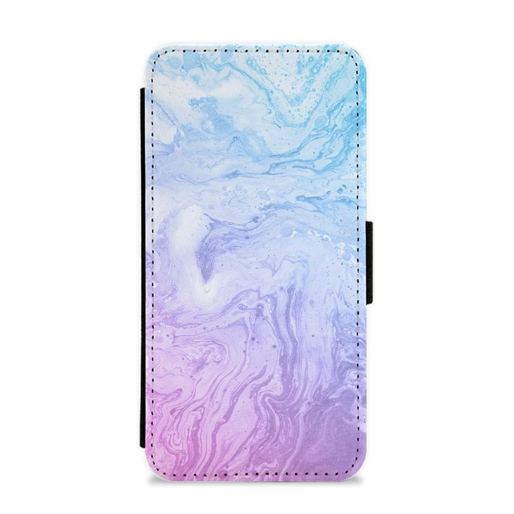 Purple Marble Flip / Wallet Phone Case - Fun Cases