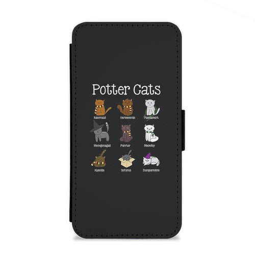 Harry Pawter - Harry Potter Cats Flip Wallet Phone Case - Fun Cases