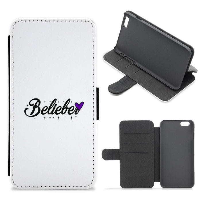 Belieber Signature - Justin Bieber Flip / Wallet Phone Case - Fun Cases