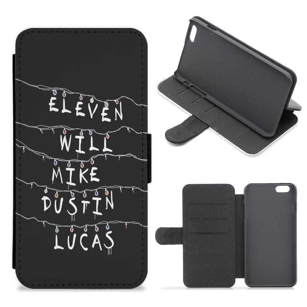 Eleven, Will, Mike, Dustin & Lucas - Stranger Things Flip / Wallet Phone Case - Fun Cases