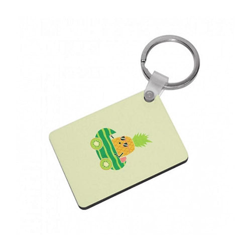 Summer Drive Pineapple Keyring - Fun Cases