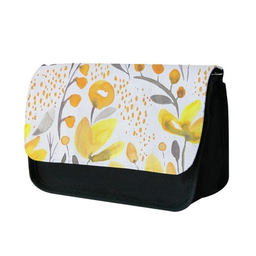 Yellow Field Floral Pencil Case - Fun Cases