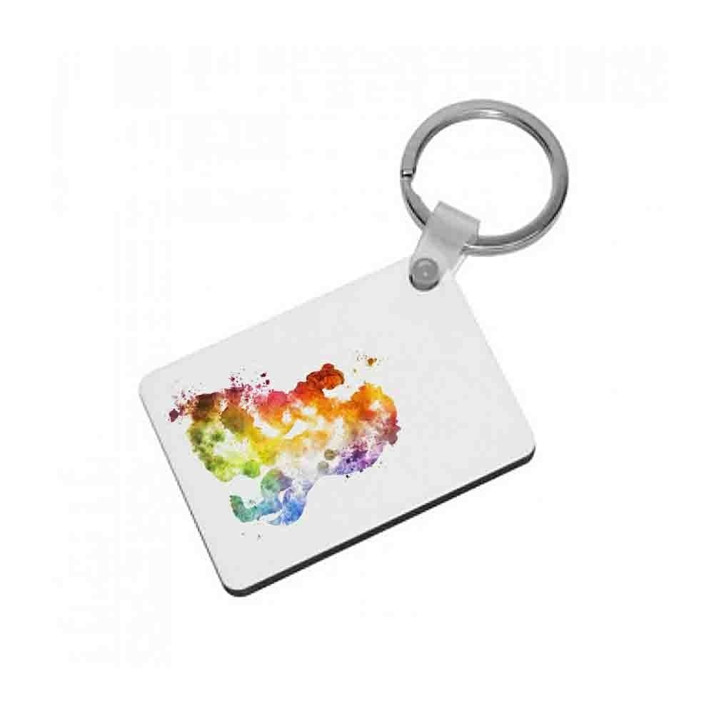 Watercolour Beauty and the Beast Disney Keyring - Fun Cases