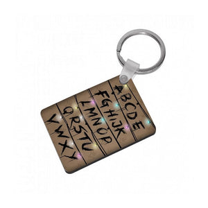 Stranger Things Alphabet Wall Keyring - Fun Cases