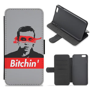Eleven Bitchin' - Stranger Things Flip Wallet Phone Case - Fun Cases
