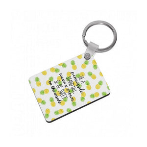 Be A Pineapple Keyring - Fun Cases