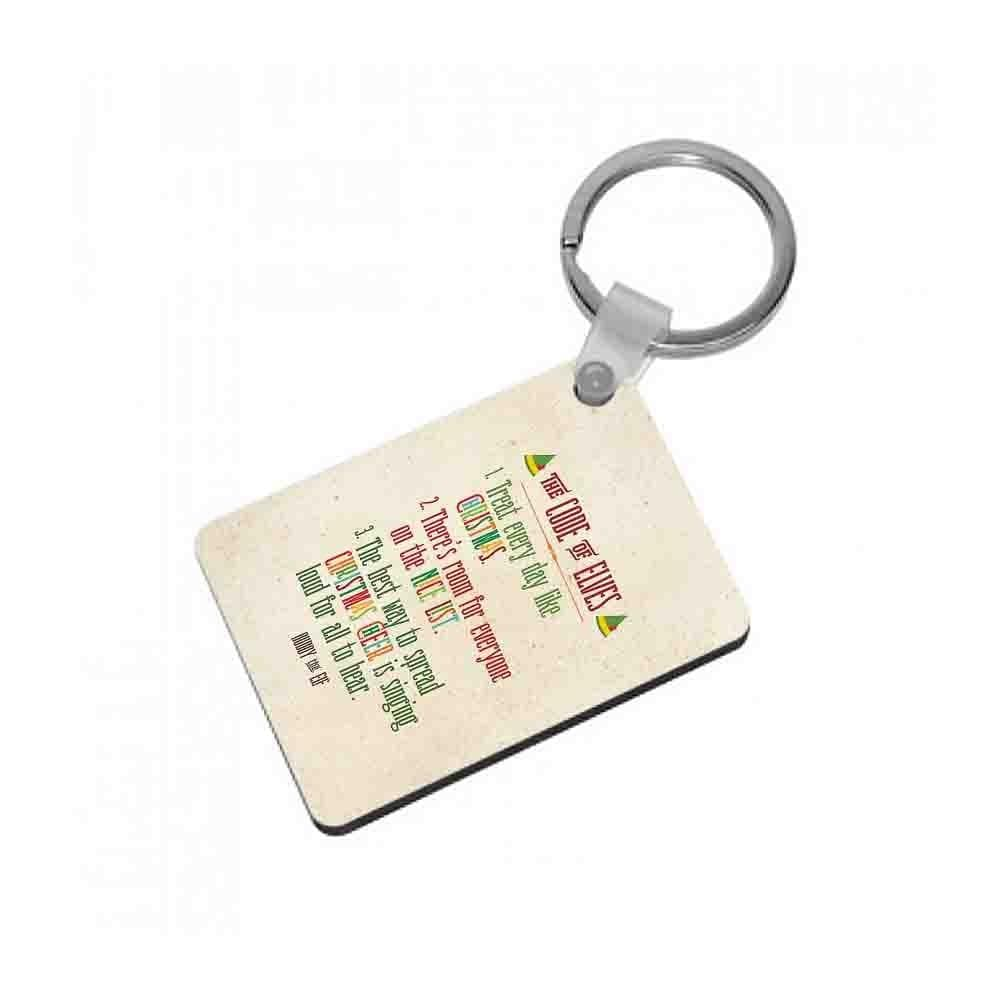 The Elf Code - Buddy The Elf Keyring - Fun Cases