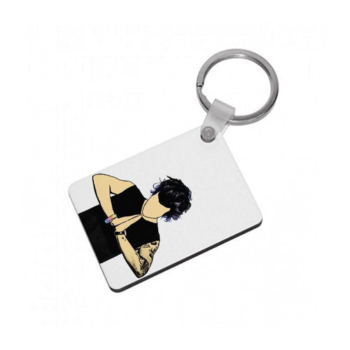 Harry Styles Cartoon Keyring - Fun Cases