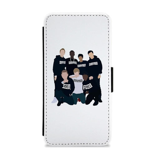 Sidemen Cartoon Flip / Wallet Phone Case - Fun Cases