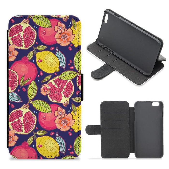 Tropical Garden Pattern Flip Wallet Phone Case - Fun Cases