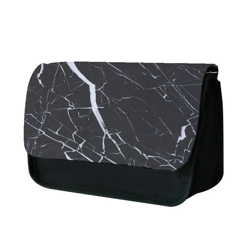 Black & White Marble Pattern Pencil Case - Fun Cases