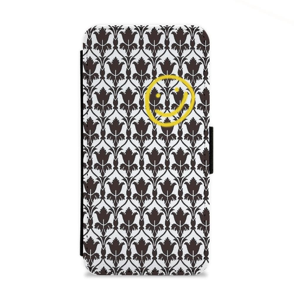 Sherlock Wallpaper Smile Flip Wallet Phone Case Fun Cases