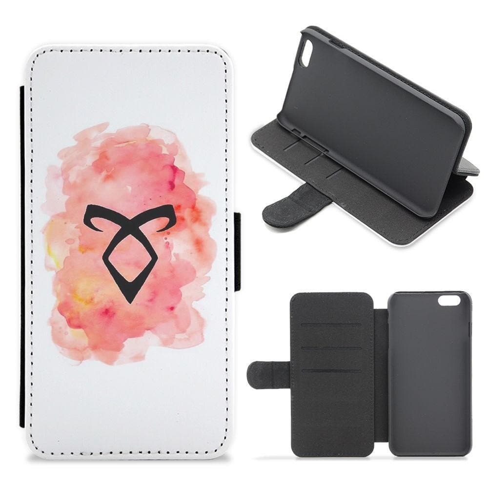 Angelic Rune - Shadowhunters Flip Wallet Phone Case - Fun Cases