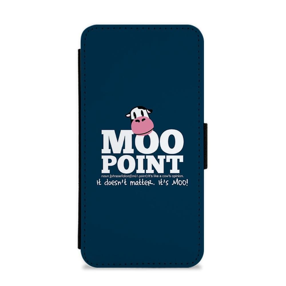 A Moo Point - Joey Tribbiani Flip / Wallet Phone Case - Fun Cases