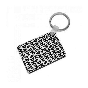 Sidemen - White SDMN Pattern Keyring - Fun Cases