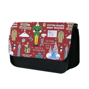 Red Buddy The Elf Pattern Pencil Case