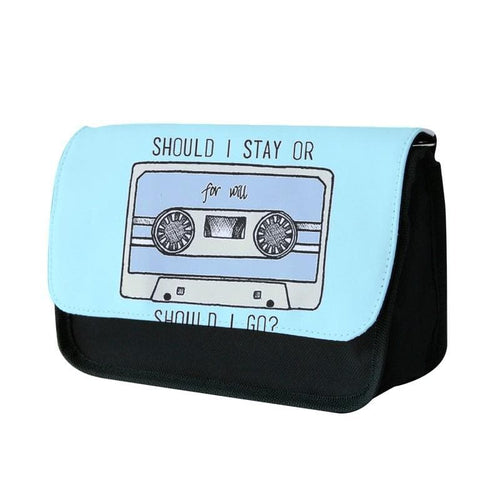Should I Stay Or Should I Go Cassette - Stranger Things Pencil Case - Fun Cases