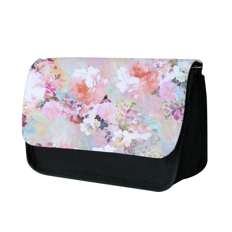 Pastel Pink Floral Pattern Pencil Case - Fun Cases