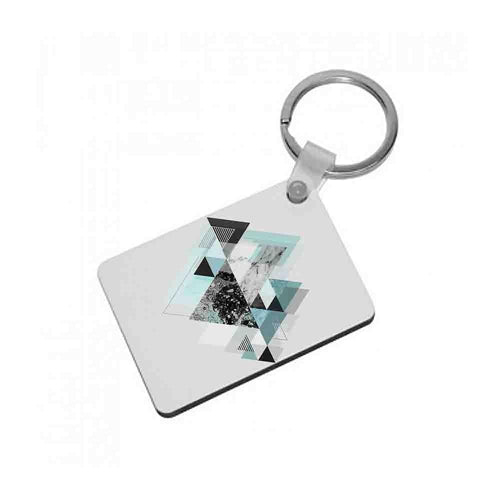 Triange Marble Pattern Keyring - Fun Cases