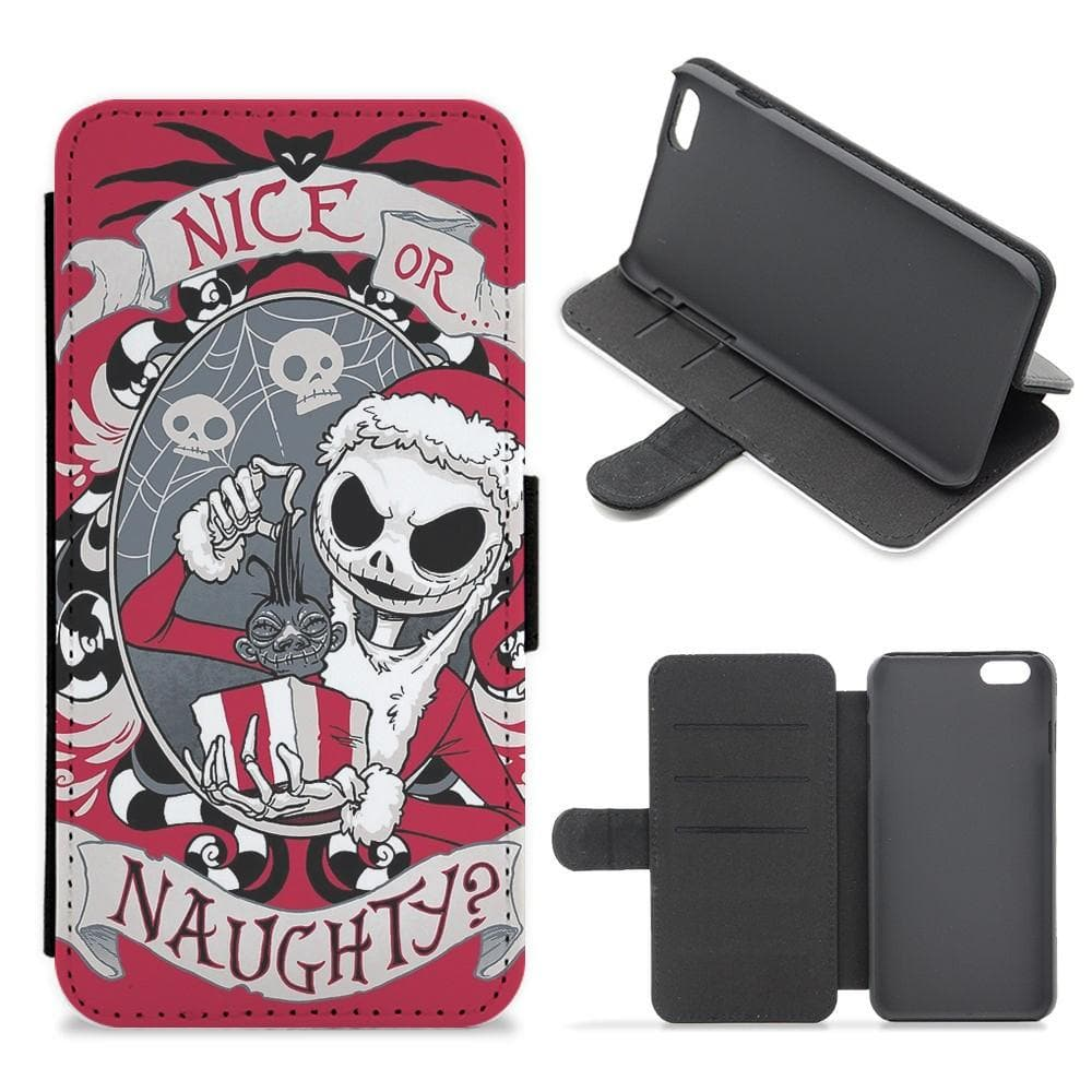 Nice Or Naughty - A Nightmare Before Christmas Flip Wallet Phone Case