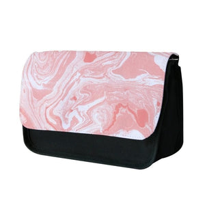 Pink Swirly Marble Pencil Case - Fun Cases