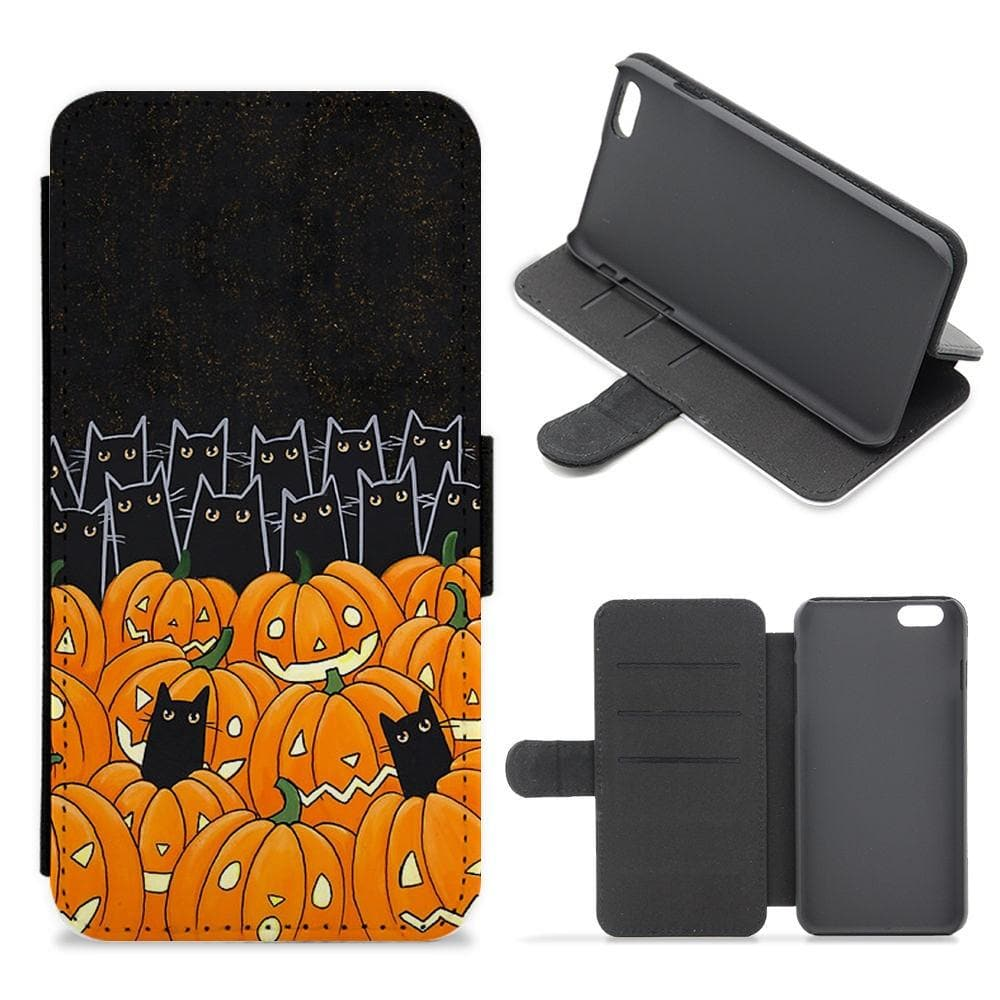 Black Cats & Lanterns - Halloween Flip / Wallet Phone Case - Fun Cases