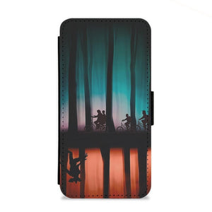 Stranger Things Upside Down Flip Wallet Phone Case - Fun Cases