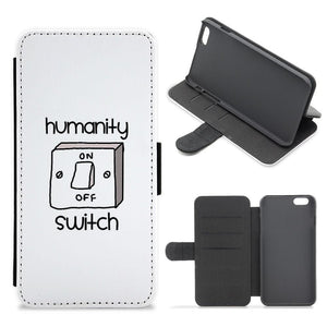 Humanity Switch - Vampire Diaries Flip / Wallet Phone Case - Fun Cases