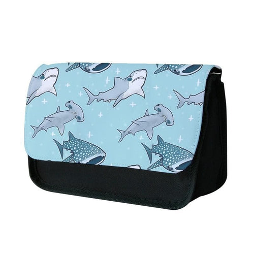 Shark Pattern Pencil Case - Fun Cases